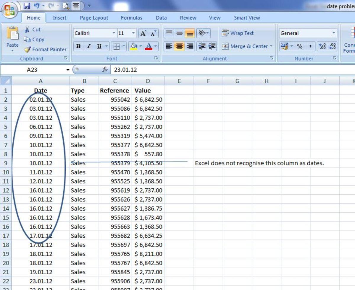 Excel Problems