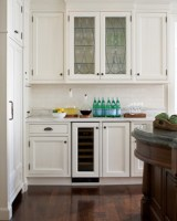 Home Improvement Ideas   White Kitchen Cabinets with Glass ...