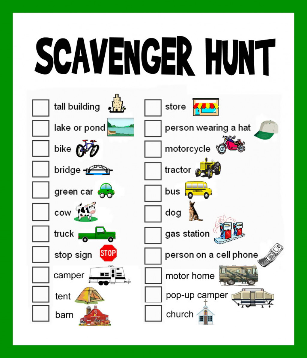 Scavenger Hunt Ideas Lists And Planning