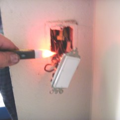Motion Sensor Light Switch Wiring Diagram How To Draw A House Install Dengarden Testing For The Leg With Turned Off Top Wire Is Still