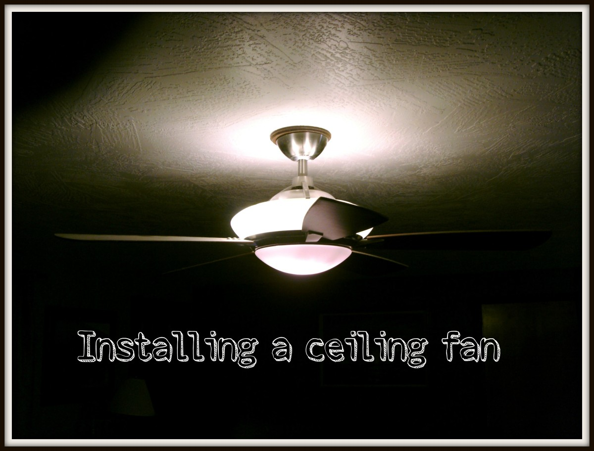 hight resolution of how to install or hang a ceiling fan