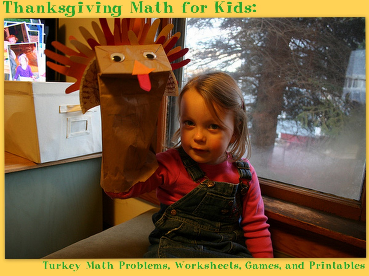 Thanksgiving Math For Kids Turkey Math Problems