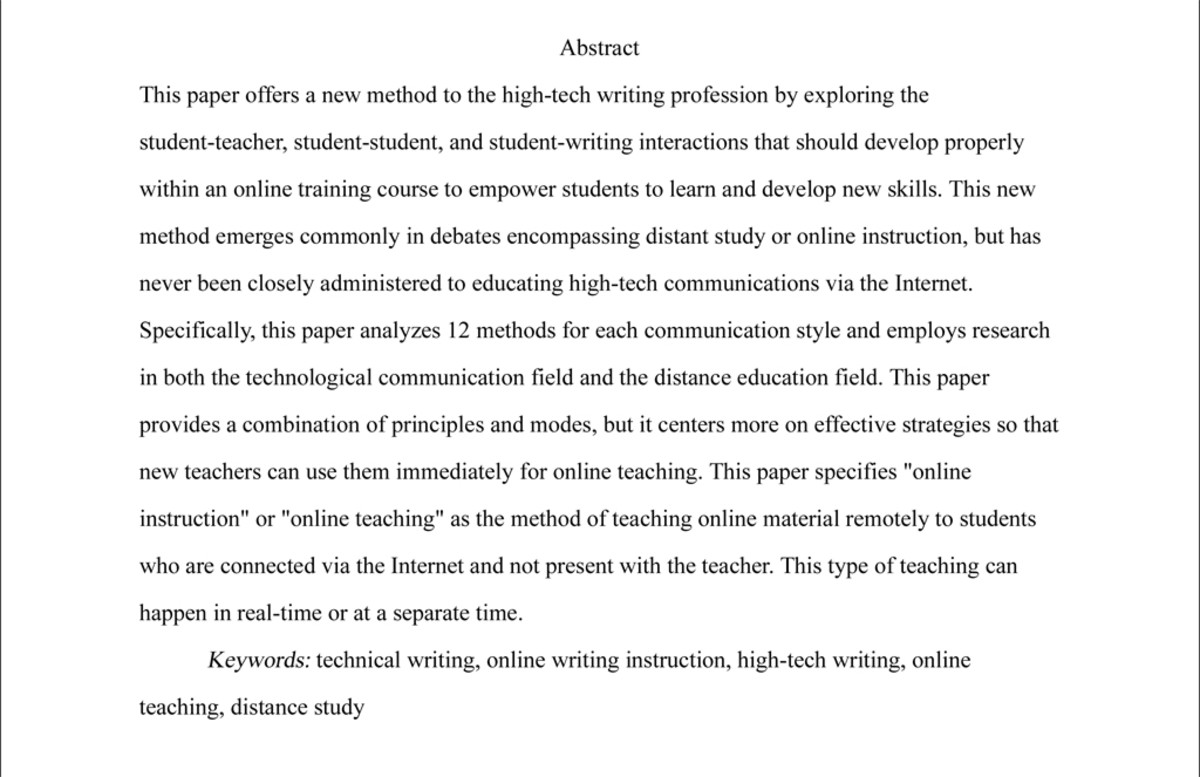 Essay Abstract Examples Writing An Abstract For Research Paper 243