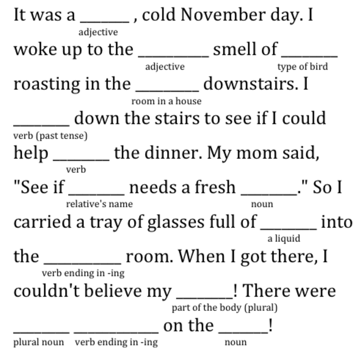 How To Make Your Own Mad Libs