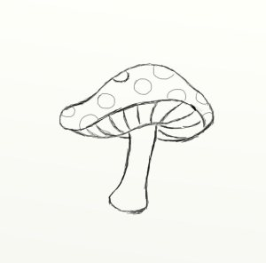 Simple Drawings Mushroom