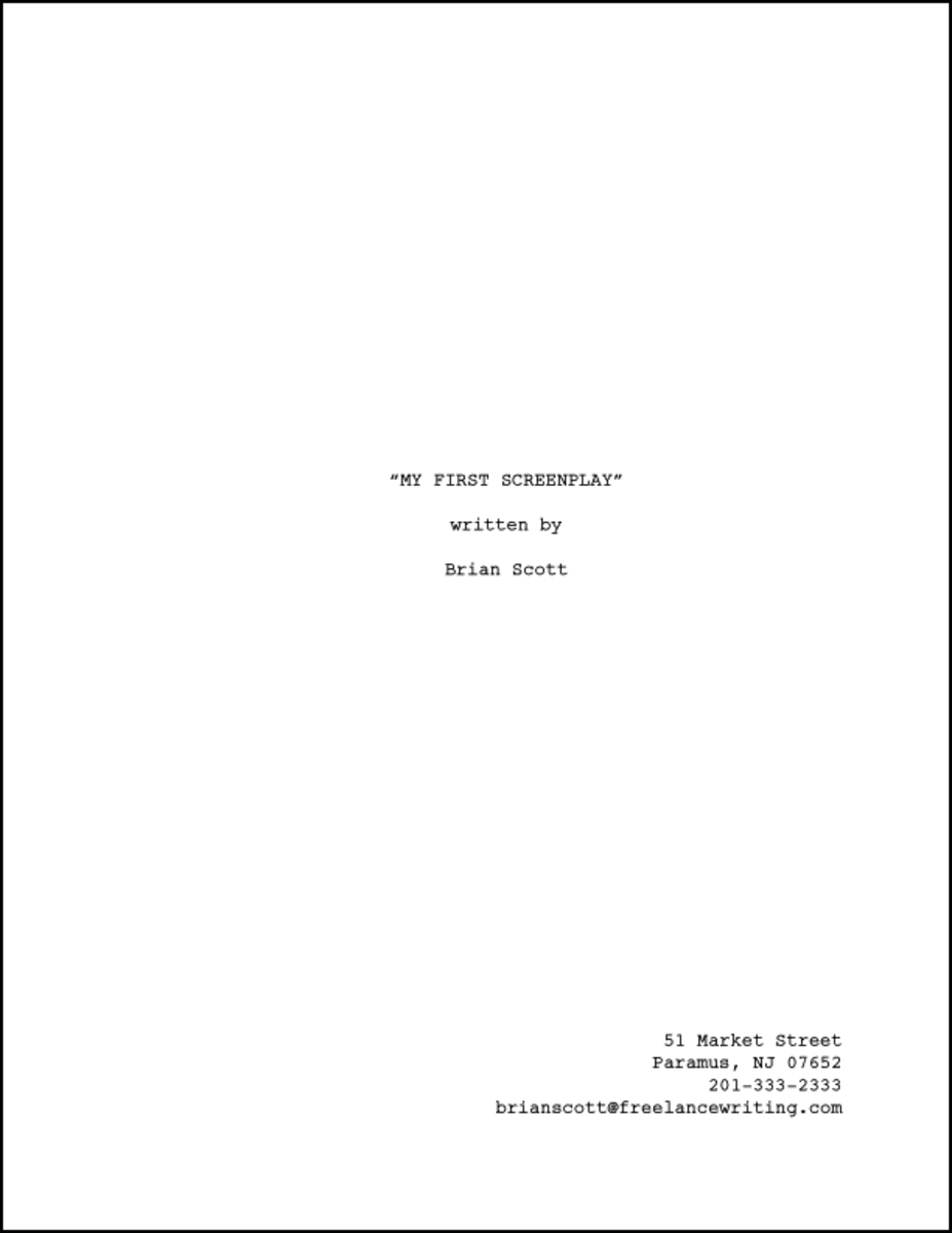 How To Format A Title Page For Your Screenplay ReelRundown