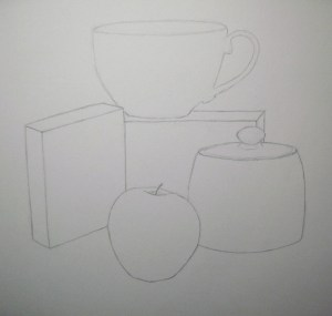 still drawing draw object outlines objects sketch lines source