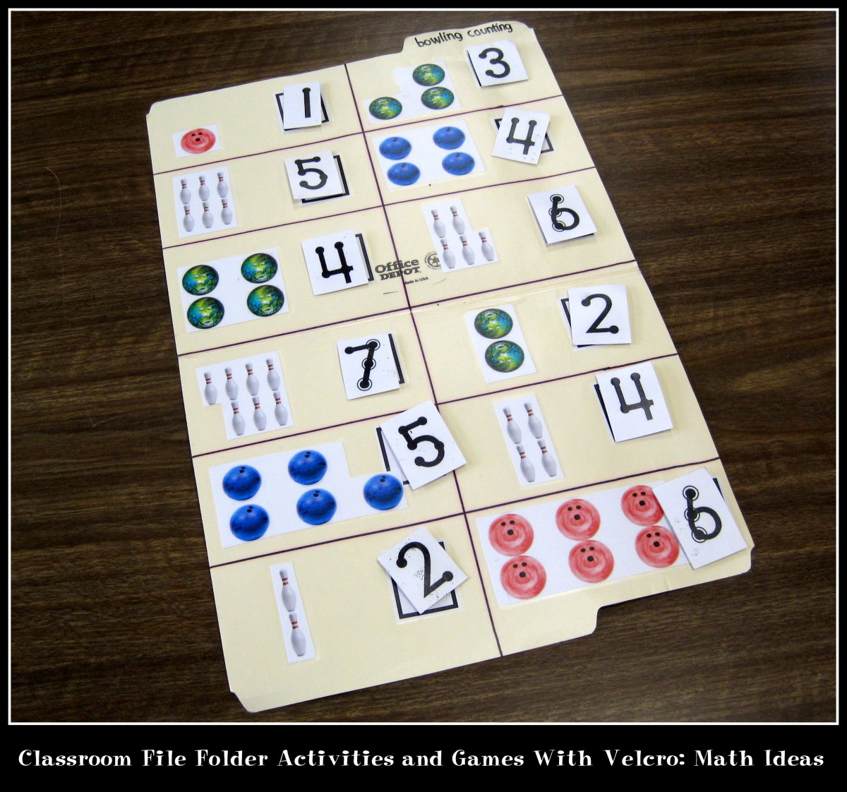 Classroom File Folder Activities And Games With Velcro