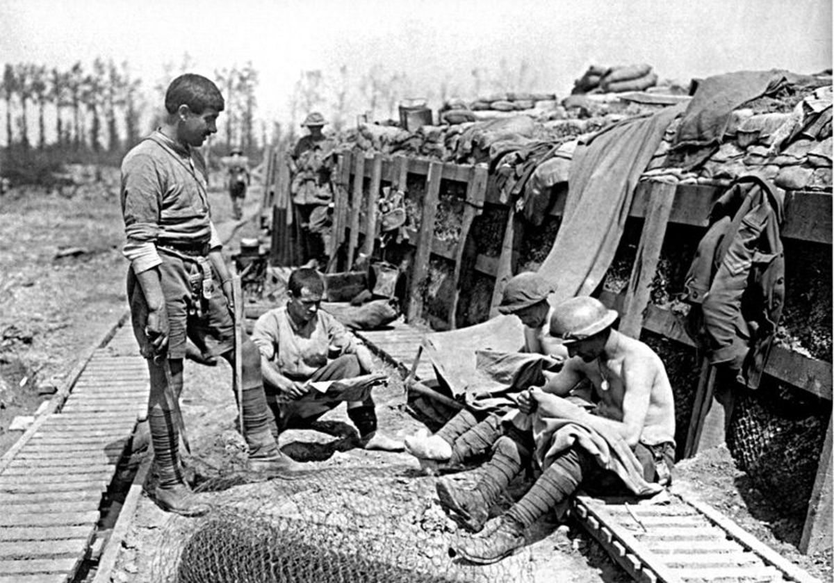 World War 1 A Day In The Trenches Of Ww I