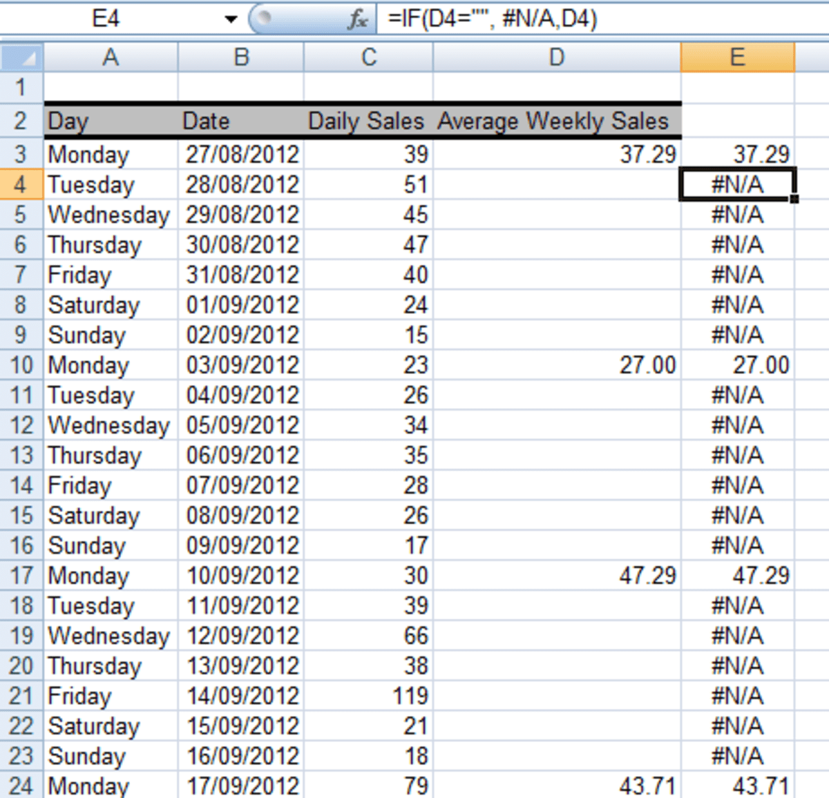 How To Get Excel And To Ignore Empty Cells In A