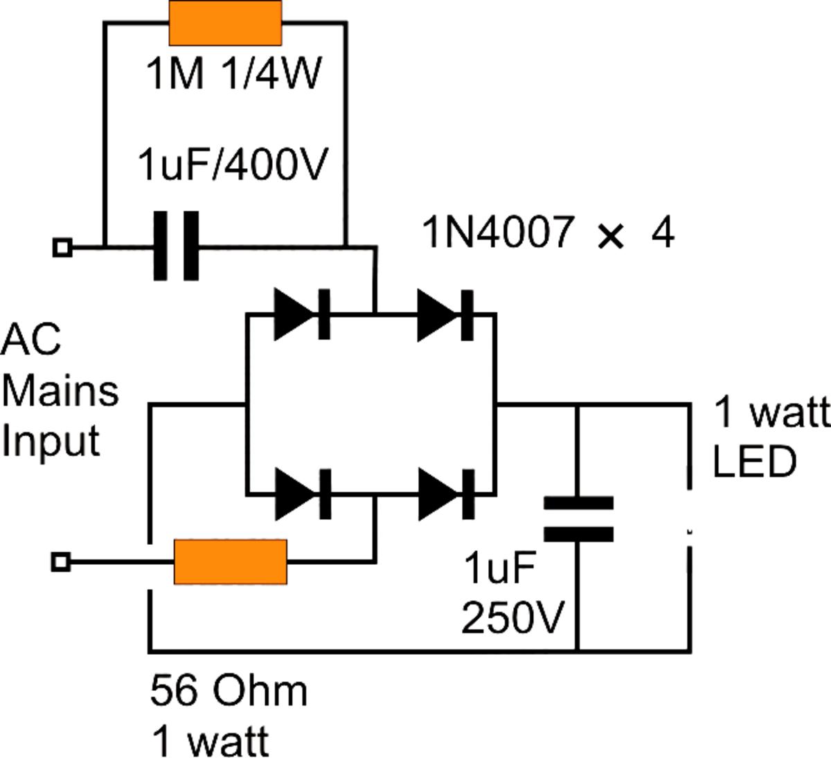 5 Watt Led Driver Circuit Diagram