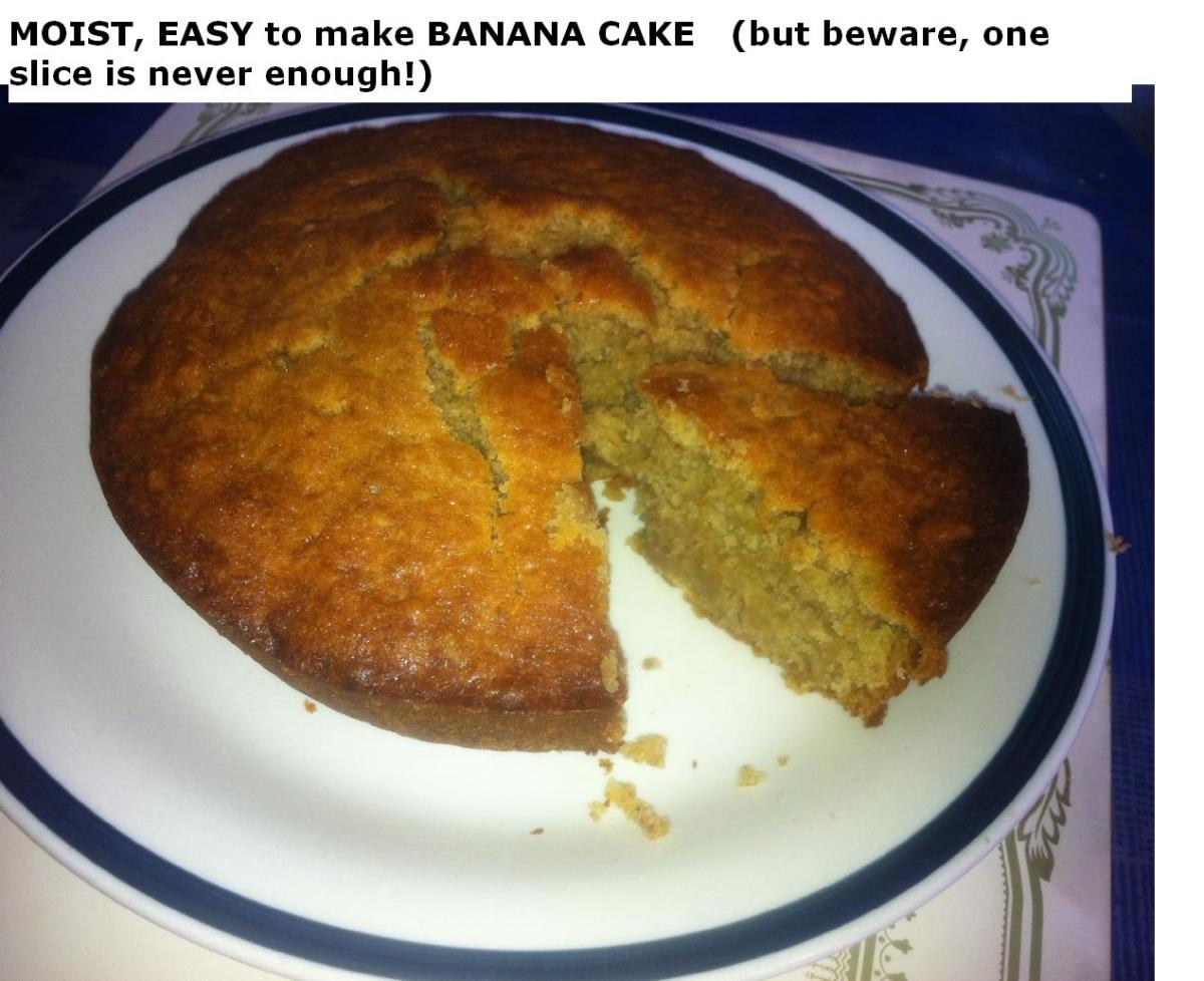 Easy And Quick Banana Cake Moist