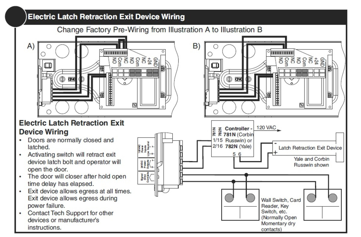 electric door strike wiring diagram elbow anatomy how to coordinate automatic doors with locking devices | dengarden