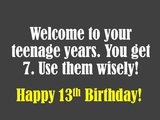 13th Birthday Wishes What To Write In A Card Holidappy