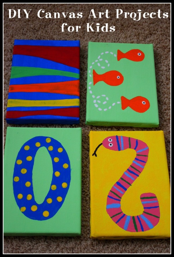 Painting Canvas Art Projects for Kids