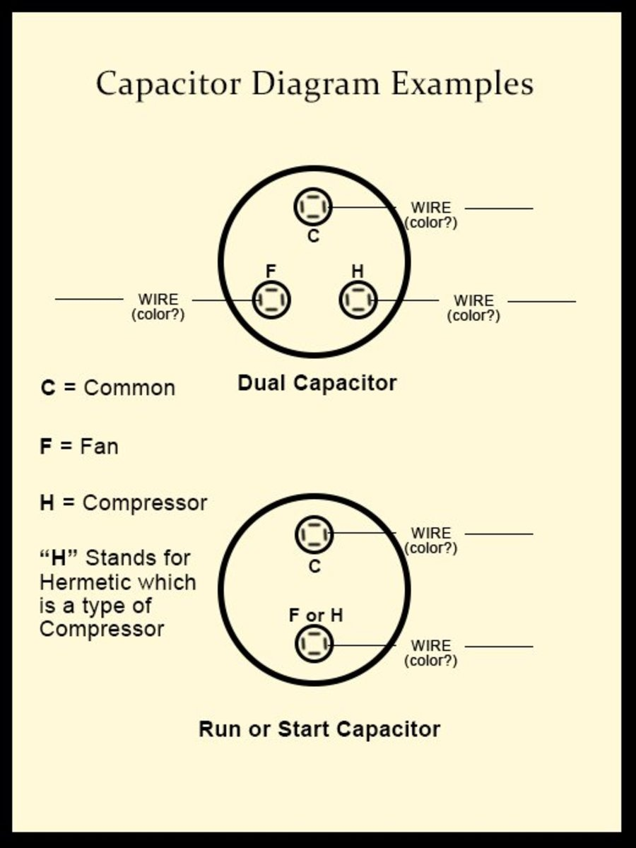 air compressor capacitor wiring diagram mercedes benz radio how to diagnose and repair your conditioner a c you can draw picture showing where the different colored wires will connect replacement