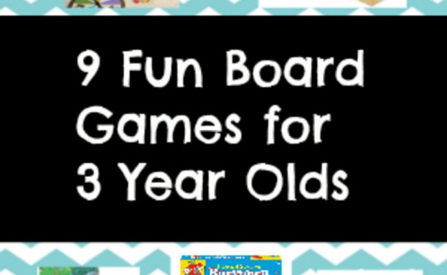 9 Fun Board Games For 3 Year Olds
