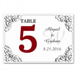 Search Accessories & Cards or check out the Table Number Cards Collection at zazzle.com/weddingbutler