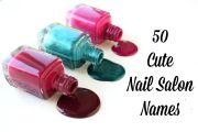 cute nail salon names