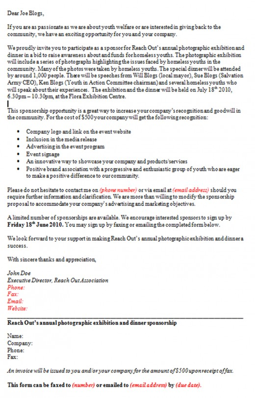 How To Write A Proposal Letter For Sponsorship  Docoments Ojazlink