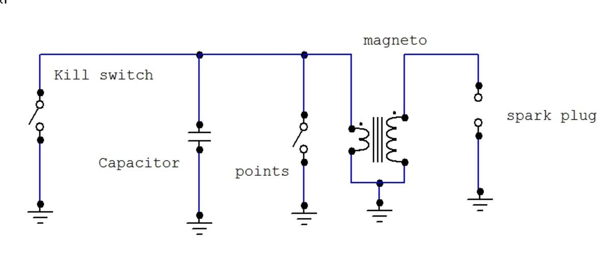 lawn mower magneto circuit diagram