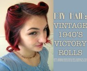 diy hair vintage 1940s victory