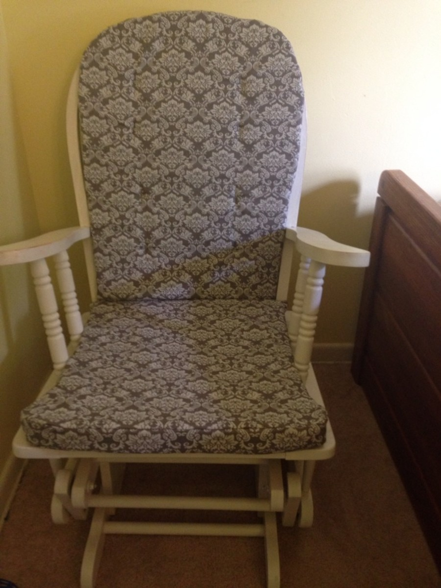 how to repair a glider rocking chair wingback chairs make cushions