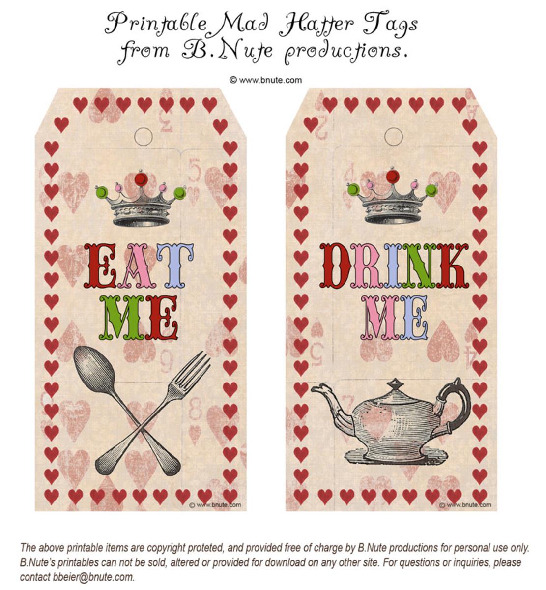 Alice In Wonderland Party Diy Ideas Amp Free Printables