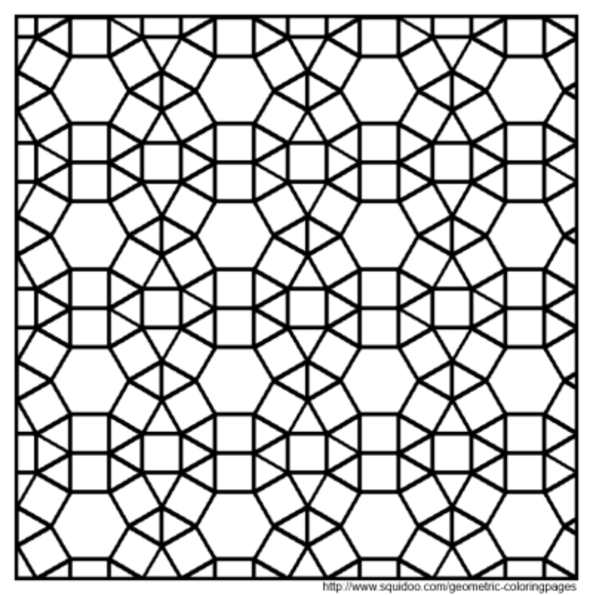 Escher Fish Tessellations Templates Sketch Coloring Page