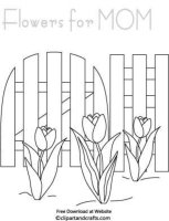 Picket Fence Coloring Pages