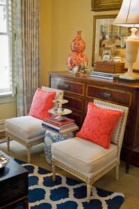 Coral Living Room & Bedroom Color Blends. DIY Decorating ...