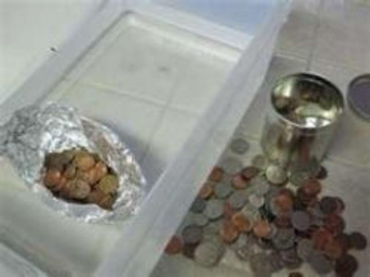Boat Aluminum Foil Hold Pennies