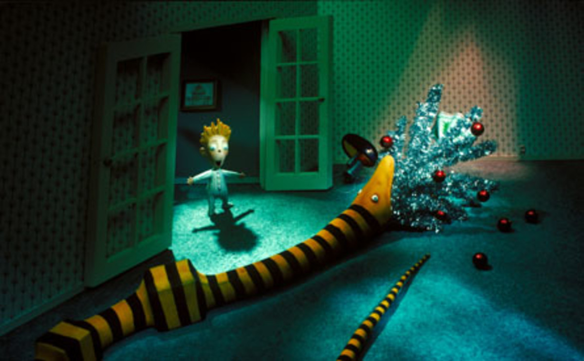 Nightmare Christmas Snake Eating Tree
