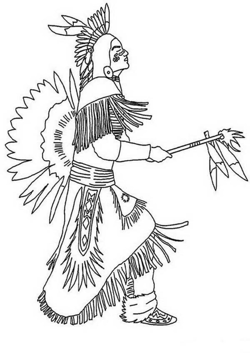 Native American Indian Coloring Books and Free Coloring