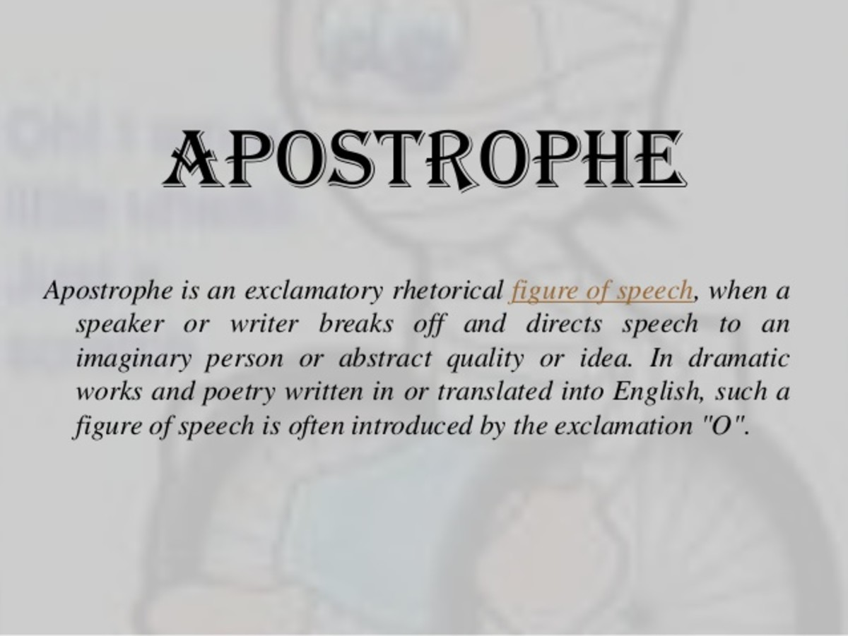 Apostrophe Definition And Examples Of Aposrophe HubPages
