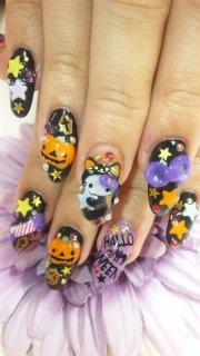 awesome halloween nail art design