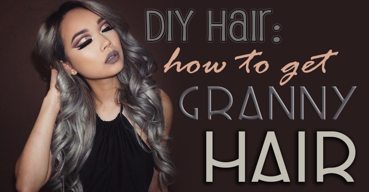 DIY Hair How To Get Granny Gray Hair Bellatory
