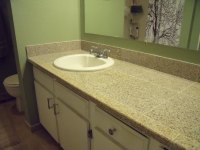 How to Replace a Bathroom Countertop with Granite Tile ...