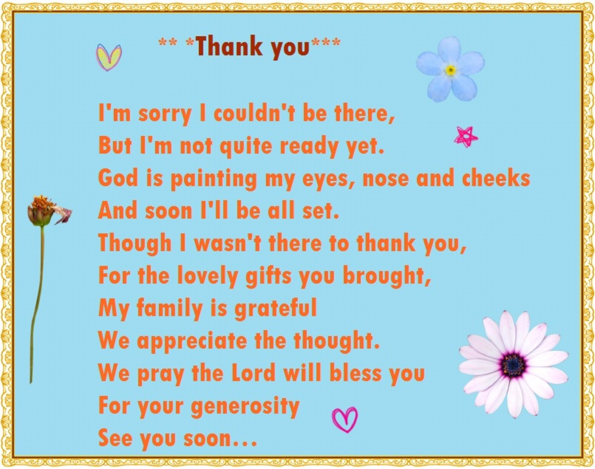 Baby Shower Thank You Poems From Unborn Hubpages