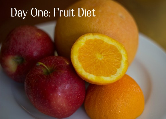 Day one of this seven day plan features all types of fruit except bananas.