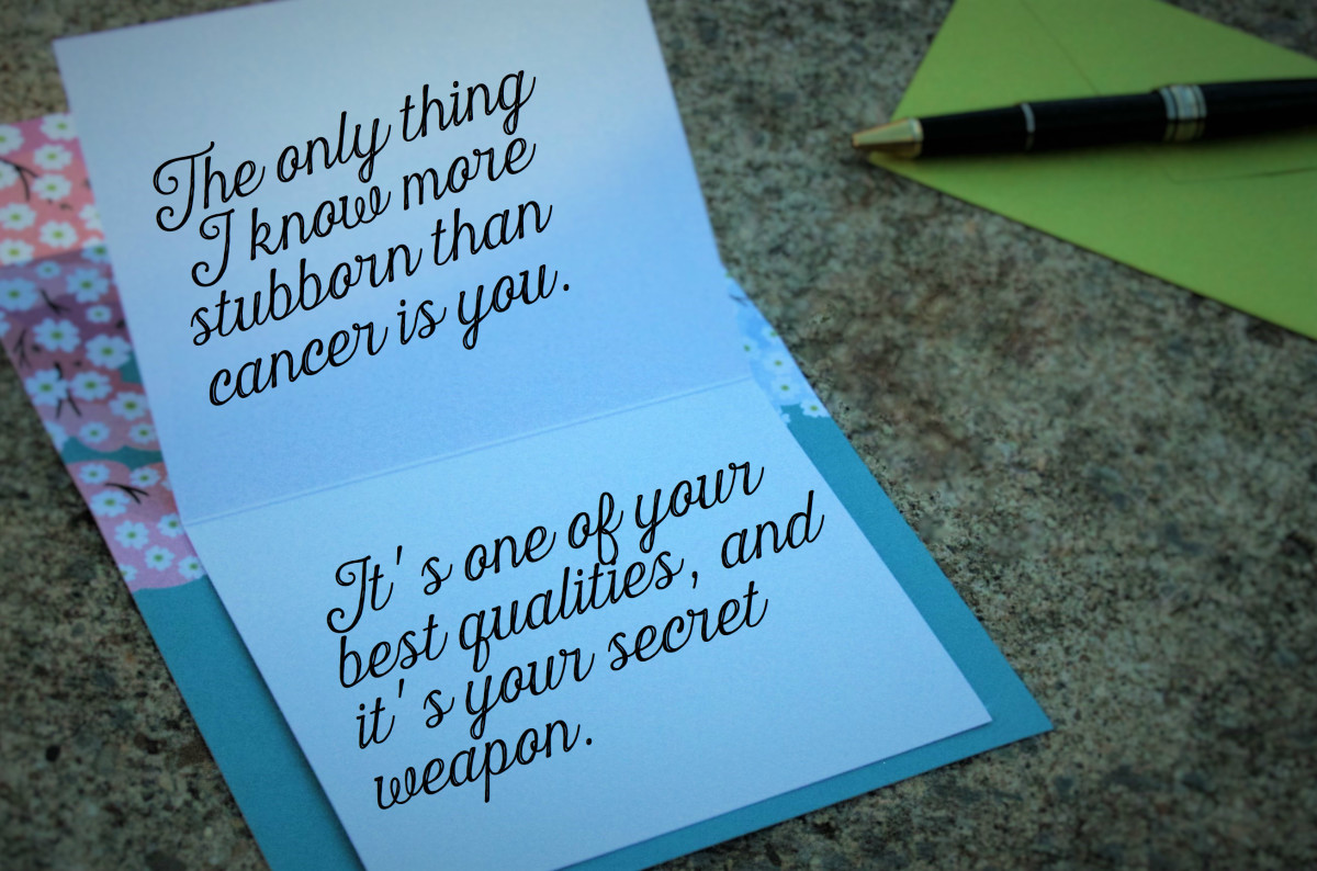 Get Well Wishes For Cancer What To Write In A Card