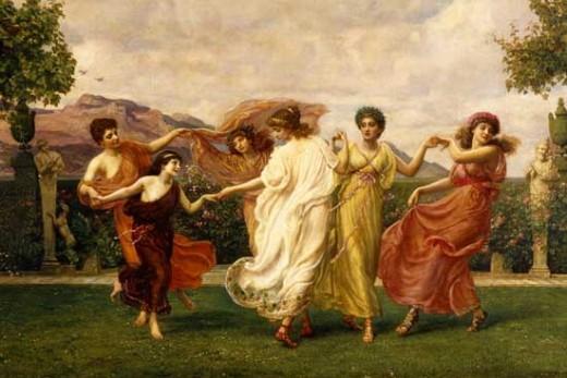The Horae (Seasons), by Sir Edward John Poynter  (1836-1919)