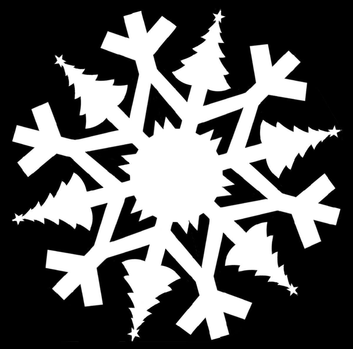 5 Christmas Themed Paper Snowflake Templates