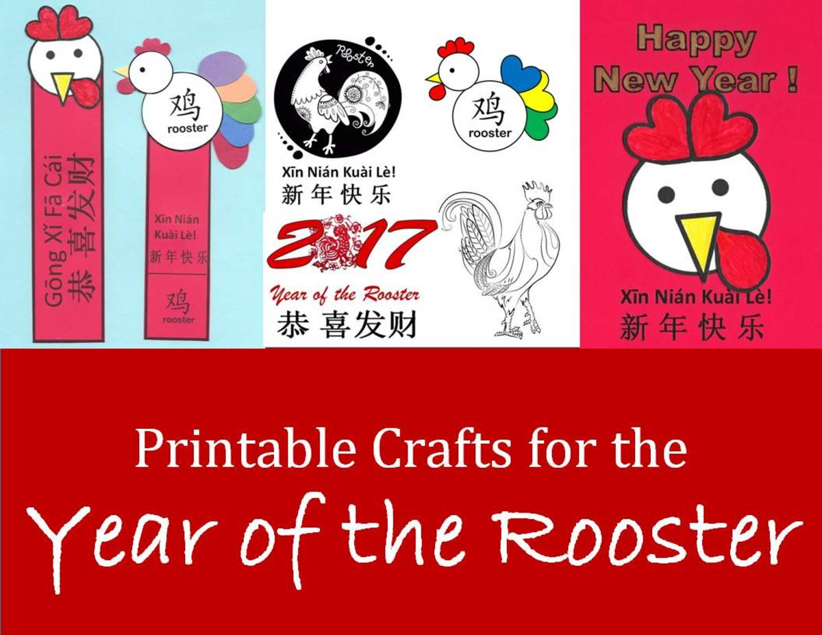 Kid Crafts For Year Of The Rooster Chinese New Year Art