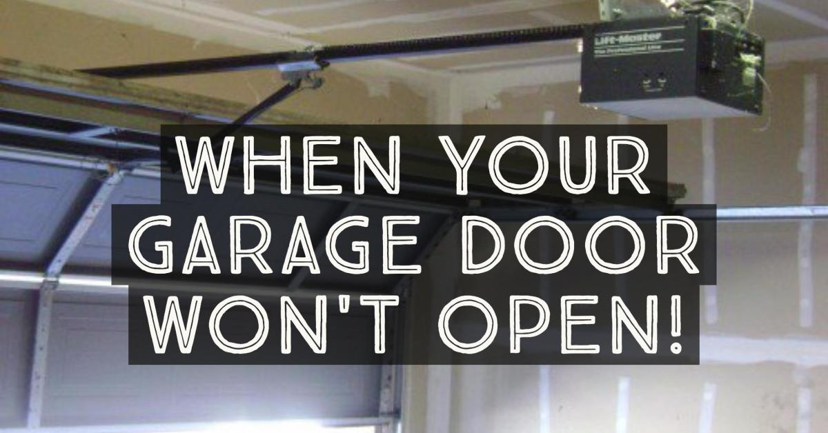 Automatic Garage Door Won T Close