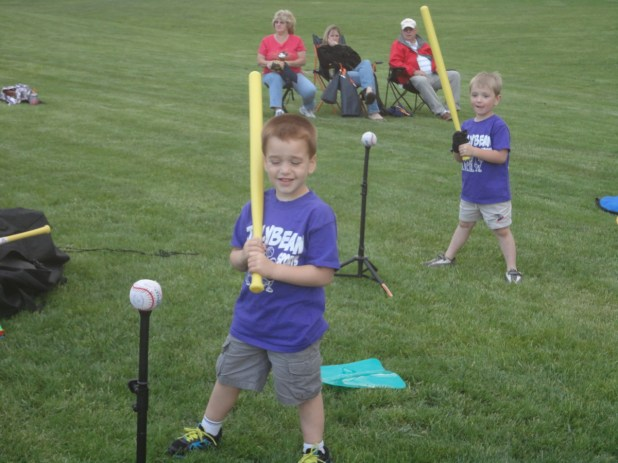 Boys batting using Caterpillar Hands