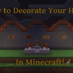 How To Make Living Room Furniture In Minecraft Red Couch Modern Decorate Your House Levelskip By Recreating Basic That Isn T Included