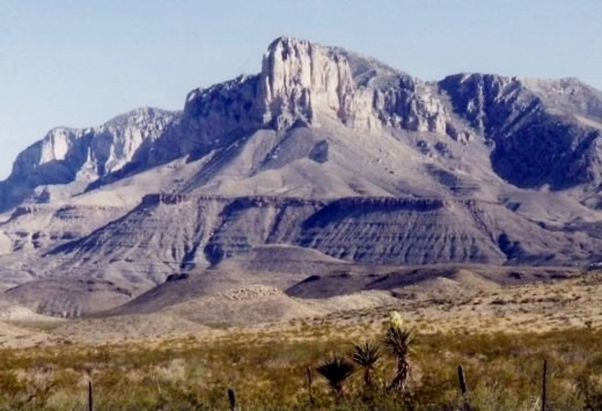 Scenic Guadalupe Mountains National Park in Texas