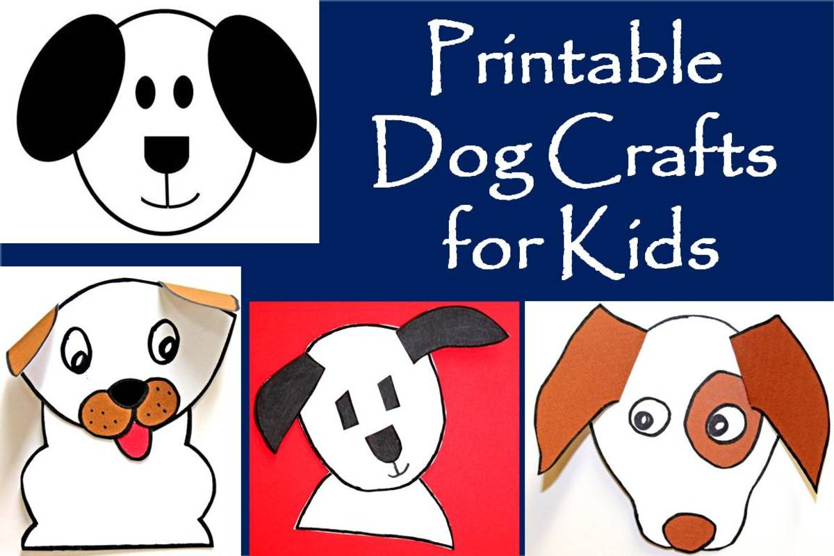 Printable Dog Patterns With Simple Shapes For Kids Crafts