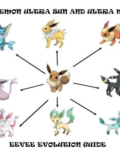 Pokemon ultra sun and moon eevee evolution guide also  levelskip rh